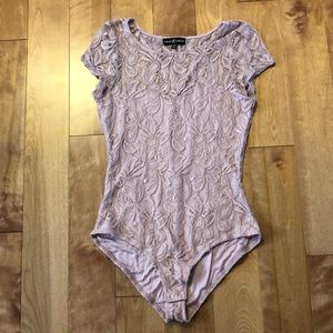 Tops - Light pink lacy body suit